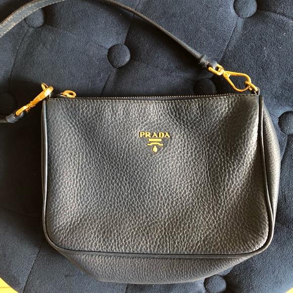 Prada Bags   Leather Pochetteclutch Bag   Poshmark f0271c7044